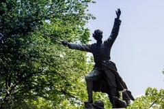 Ecaterina Teodoroiu-standbeeld Stock Afbeelding