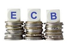 ECB - Европейский Центральный Банк Стоковые Фотографии RF