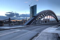 ECB and Arched Bridge Royalty Free Stock Photos