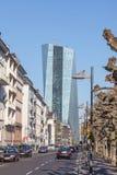 ECB (ECB) i Frankfurt Royaltyfri Bild