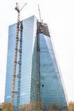 ECB -  European Central Bank construction. The new EZB - European Central Bank - ECB - building in Frankfurt during construction Royalty Free Stock Photos