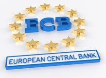 ECB European Central Bank - 3D Render Stock Images