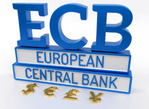 ECB European Central Bank - 3D Render Royalty Free Stock Photography