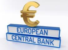 ECB European Central Bank - 3D Render Stock Photography
