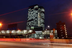 ECB European Central Bank nightscene Stock Photo