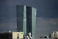 ECB (European Central Bank) tower Stock Photography