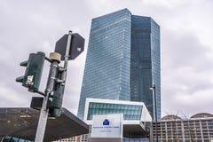 ECB - Europese Centrale Bankbouw royalty-vrije stock afbeelding