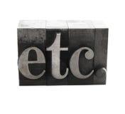 Ecc. nel vecchio tipo del metallo fotografie stock