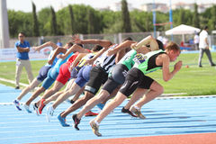 ECCC Track and Field Juniors Group A Stock Image
