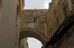 Ecce拉人曲拱,耶路撒冷,以色列 库存图片
