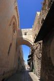 Ecce拉人曲拱,通过Dolorosa,耶路撒冷 免版税库存照片