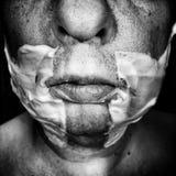 Ecce Homo Konstnärlig blick i svartvitt Arkivbild