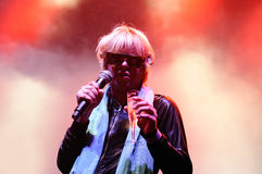The eccentric Ariel Pink's Haunted Graffiti band performs at Sant Jordi Club Stock Photos