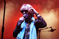 The eccentric Ariel Pink's Haunted Graffiti band performs at Sant Jordi Club Royalty Free Stock Photography