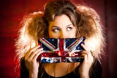 Eccentric British woman Stock Photos