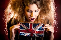 Eccentric British woman Royalty Free Stock Images