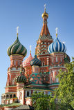 Eccentric Cupolas of St. Basil's Cathedral on Red Square Royalty Free Stock Photos