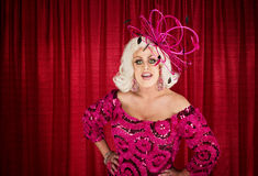 Eccentric Drag Queen with Hands on Hip Royalty Free Stock Images