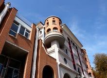 Eccentric facade of a building Stock Image