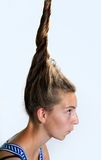 Eccentric hairstyle stock image