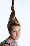 Eccentric hairstyle Stock Photos