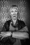 Eccentric Lady with Wild Eyes Royalty Free Stock Images