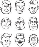 Eccentric People Heads Royalty Free Stock Images