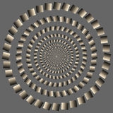 Eccentric rotating circle. optical illusion Stock Photo