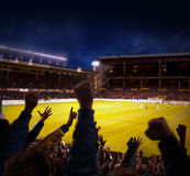 Eccitamento di gioco del calcio Immagine Stock