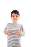 ECCITI la comunicazione di linguaggio dei segni di ASL immagini stock libere da diritti