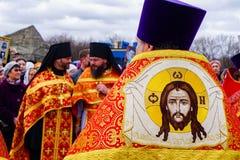 Ecclésiastique dans la cérémonie de religion photos libres de droits