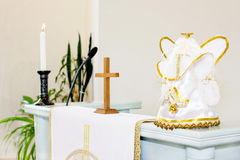 Ecclesiastical objects. Utensils. Catholic and Orthodox Church Royalty Free Stock Images