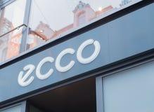ECCO在新的墙壁的鞋店在汉堡 库存照片