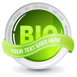 Ecelogy bio sign. Perfect badge made for your bio products Stock Photography