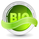 Ecelogy bio sign. Perfect badge made for your bio products Royalty Free Stock Photos