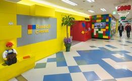 Eception hizo de los bloques de Lego en el campus de HandsOn, Seul Fotos de archivo libres de regalías