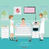 ECG测试或心脏病测试 库存图片