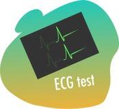 Ecg测试 免版税库存图片