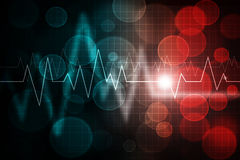 Ecg. Pattern over abstract gradient colorful background Royalty Free Stock Photo
