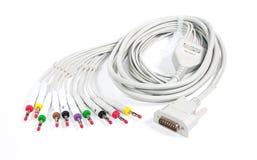 ECG缆绳 库存照片