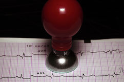 Free ECG And A Metal Electrode. Stock Photo - 28025740
