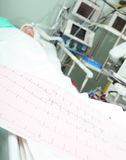 ECG bed patient monitoring concept Stock Photography