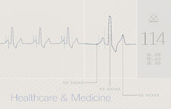 ECG, cardio, heart, medical background Royalty Free Stock Image