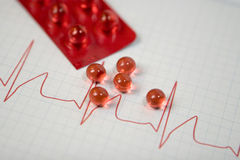 ECG Chart Royalty Free Stock Photos