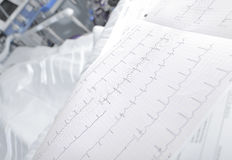 ECG chart in the ward closeup Stock Photo