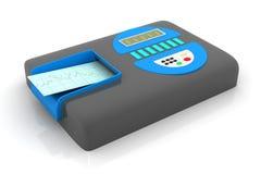 ECG con la máquina del electrocardiógrafo ilustración del vector
