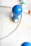 ECG concept of medical diagnostic Stock Photography