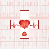 ecg cross Royalty Free Stock Image