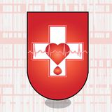 Ecg cross Stock Images