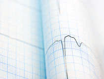 ECG curve folded on paper Royalty Free Stock Photography